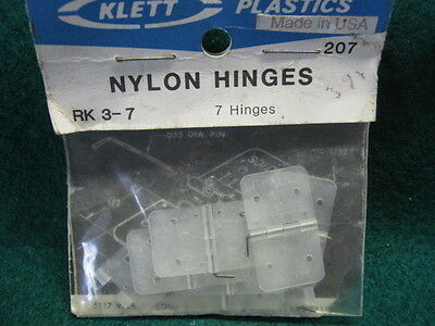 "Control line  ""Klett"" U.S.A. hinges (Medium) 7 per pack (new)"