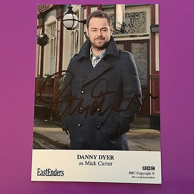 """Danny Dyer - Hand Signed """"Eastenders"""" Cast Card - Genuine Autograph"""