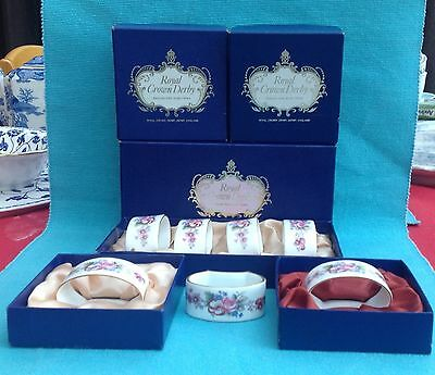 Beautiful Royal Crown Derby Napkin rings boxed