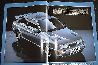 Ford Sierra RS Cosworth 1985 Original A3 Advertisement