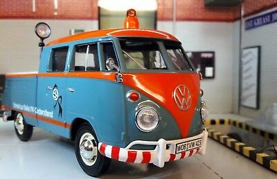 LGB 1:24 Scale VW T1 Split Screen Double Cab Model Service Pickup 1962 79556