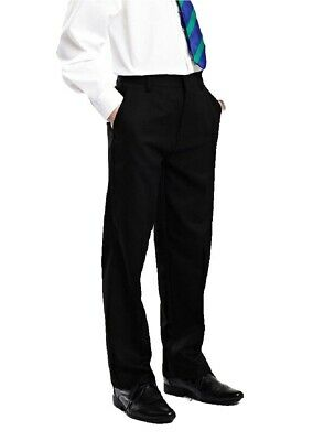 Ex M&S Boys Black Grey School Trousers Regular/ Plus/ Slim Fit Age 2-16