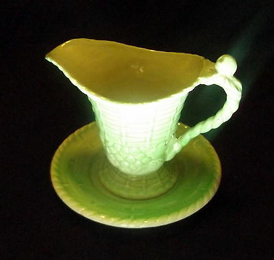 Carlton Ware Green Sauce Jug With Underplate.
