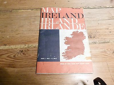 Vintage BORD FAILTE IRISH TOURIST BOARD Map of Ireland (Includes City Plans)