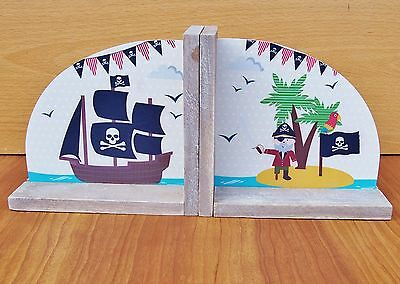 Pirate Bookends Children Room Book Ends Gift Christening Home Decoration Nursery