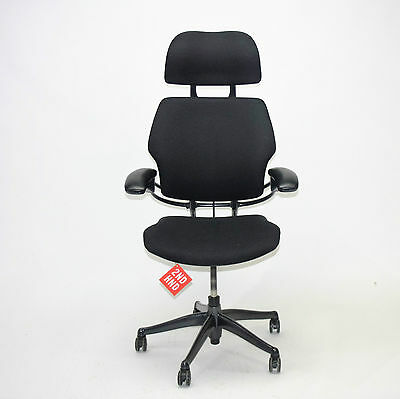 Humanscale Freedom Hi Back Chair   New Black fabric