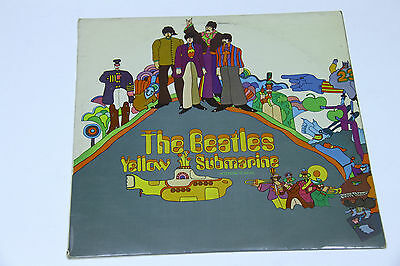 The Beatles - Yellow Submarine - MEGA RARE - RED LINES BACK COVER UK PCS 7070!!!