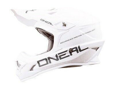 ONEAL 2017 3 Series Flat White Motorcycle Helmet Adult All Sizes