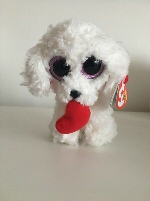 New Rare Not Released Ty Beanie Boo Boos Honey Bun Dog Woof Soft Plush Toy