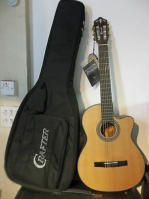 Crafter CE-15 Electro-Acoustic Classical nylon & padded gigbag New warranteed.