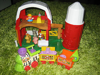 Fisher price little people farm house with the zoo train