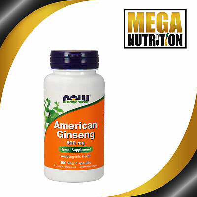 Now Foods, American Ginseng, 500 mg, 100 Capsules