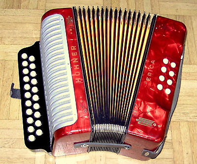 Sale ! Top ! Made In Germany C/f Hohner  Erica  Diatonic  Accordion