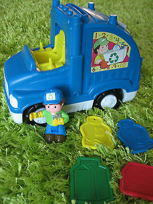 Fisher price little people muscial recycling truck