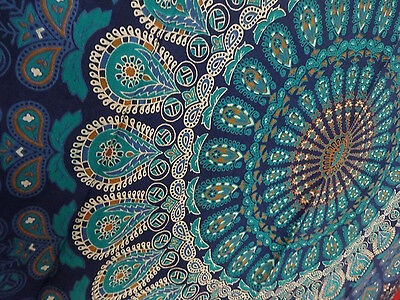Twin Indian Wall Hanging Hippie Mandala Tapestry Bedspread Ethnic Bohemian Throw