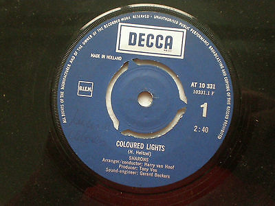 THE SHARONS That's My World HOLLAND 45 SAMPLE DECCA 1968 Popsike Fuzz MOD