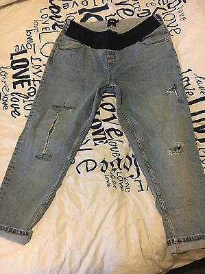 Asos Ripped Maternity Jeans Size 14