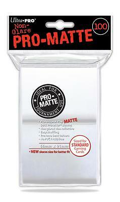 Ultra Pro - Pro Matte Card Sleeves (100) - Deck Protector Standard Size - Clear