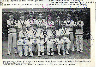 Northants Ccc 1969 Signed Team Picture Inc Colin Milburn (Last Team Pic)