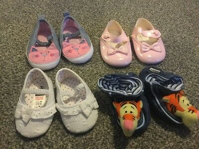 baby girls shoe bundle, 0-3 months excellent condition.