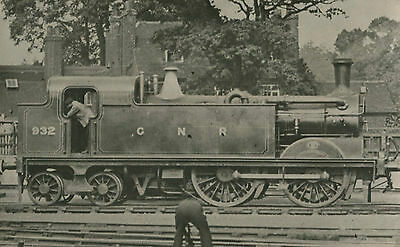 Postcard size photograph Great Northern Railway GNR G Class 0-4-4T loco No 932.