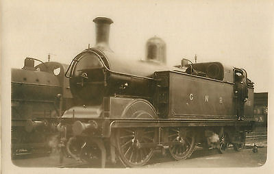 Postcard size photograph Great Northern Railway GNR G Class 0-4-4T loco No 766.