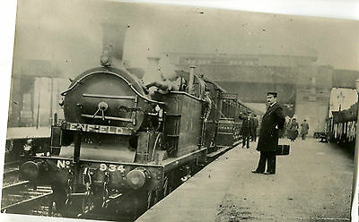 Postcard size photograph Great Northern Railway GNR G Class 0-4-4T loco No 934