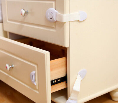 10x Baby Safety Drawer Cupboard Cabinet Door Drawers Toilet Seat Lock Latch
