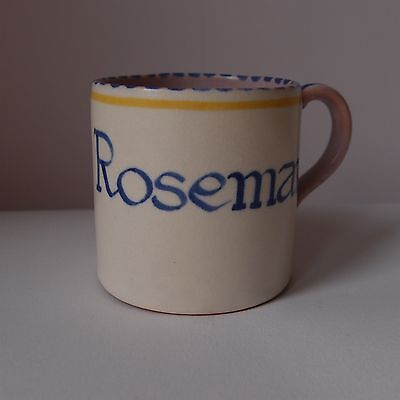 Poole Pottery 'Rosemary' Cup - Marian Heath - 1930s -some damage