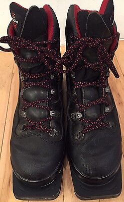 Mens Black Garmont Sz 9 3 Pin ,75 MM Cross Country Ski Boots Made In Italy