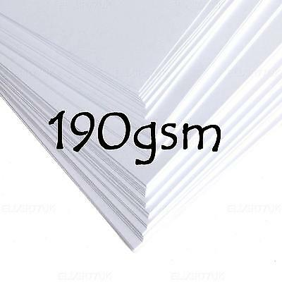 A4 A5 A6 WHITE CARD BLANK STOCK CRAFT MAKING LOT ART SCHOOL PAPER KIT TAG 190gsm