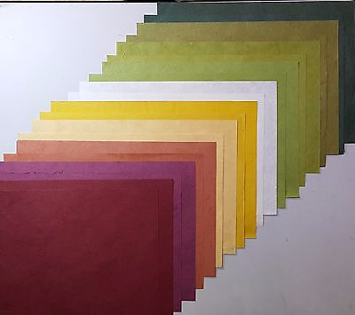 20 pcs.Mulberry Paper mix10 color Handmade fine texture for Craft,Card,Scrapbook