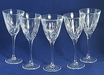 Beautiful Set of 5 Heavy Quality Pair of Crystal Wine Glasses. Height:16.5 cm