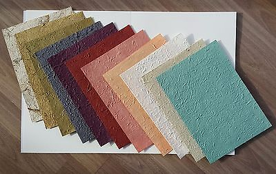 11 pcs.Mulberry Paper 11 color handmade rough texture for Craft, Card, Scrapbook