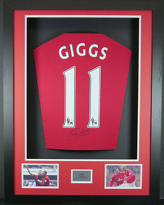 Ryan Giggs Manchester United Signed  Shirt 3D Frame with COA