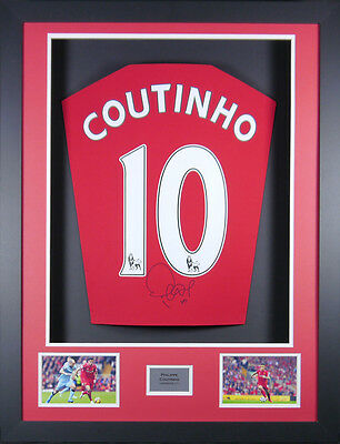Philippe Coutinho Liverpool Signed  Shirt 3D Frame with COA