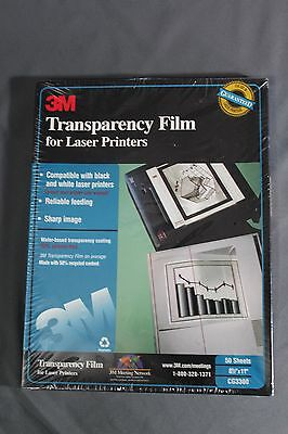 """3M Transparency Film for Laser Printers - 50 Sheets - 8 1/2""""x11"""" Factory Sealed"""