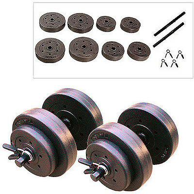 40 Lbs Adjustable Dumbbell Set Golds Gym Weight Workout Exercise Weights Fitness