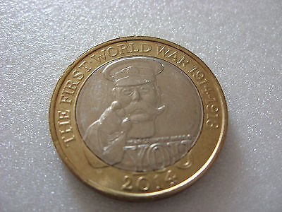 Two pound coin 2014. The first world war.