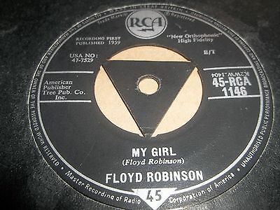 "Floyd Robinson "" Makin' Love / My Girl "" 7"" Single Country Rock Vg+ 1959"