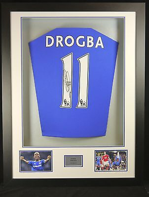 Didier Drogba Chelsea Signed Shirt 3D Frame with COA