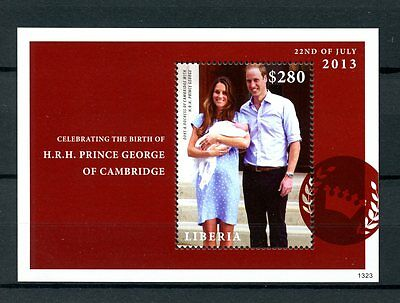Liberia 2013 MNH Birth Prince George Royal Baby 1v S/S William Kate Stamps