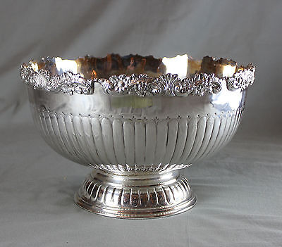 Large Sheffield Plate Punch Bowl Cooper Brothers & Sons c1950