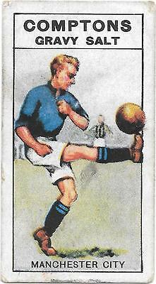 """Comptons Gravy Salts Very Rare Series """"d"""" Coloured Card Manchester City"""
