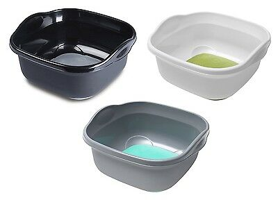 Silicon Soft Touch Sink Washing Up Bowl Basin Square Kitchen Shiny Plastic