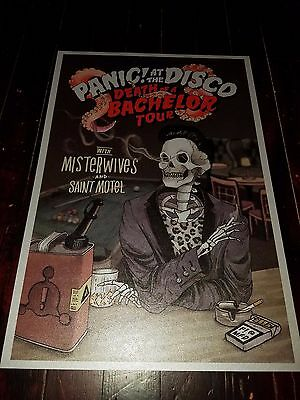Panic! At the Disco tour poster 2017 Metallic Silver Stock Death Of A Bachelor