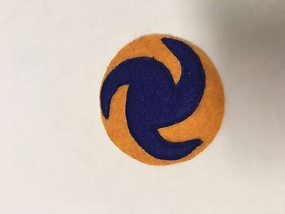 WWII US Army Air Force Pin wheel Patch on Wool