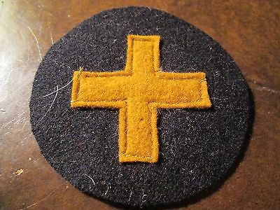 WWI US Army 33rd Infantry Division Patch  AEF small cross