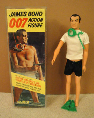James Bond Gilbert Figures Acrylic Cases To Store Them 12 3/4Hx 4 1/2Wx 2 5/8Dp