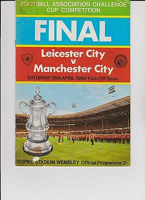 FA Challenge Cup Final Tie Leicester v Manchester City Wembley Stadium 1969